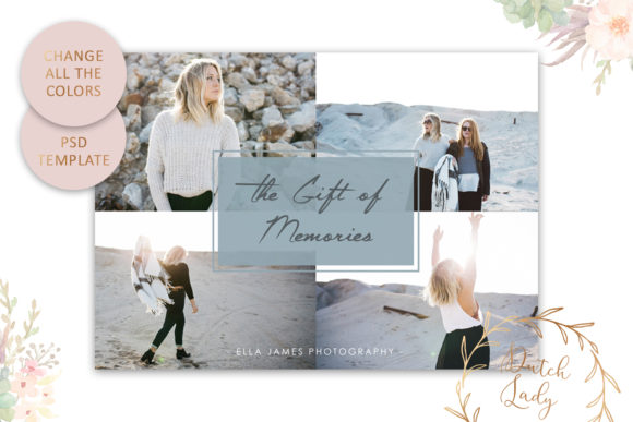Print on Demand: Photo Gift Card .PSD Template - #21 Graphic Print Templates By daphnepopuliers - Image 4