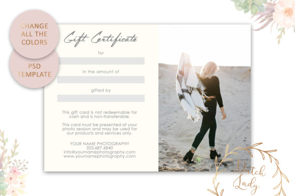 Print on Demand: Photo Gift Card .PSD Template - #21 Graphic Print Templates By daphnepopuliers - Image 5