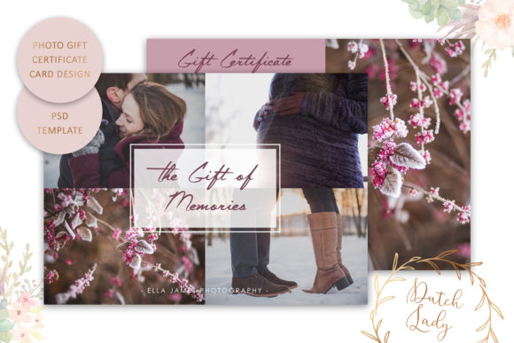Print on Demand: Photo Gift Card .PSD Template - #21 Graphic Print Templates By daphnepopuliers