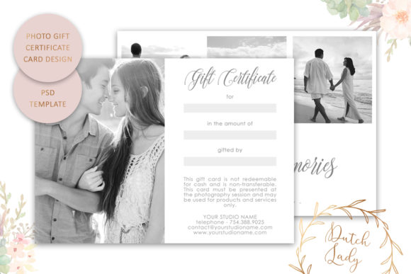 Print on Demand: Photo Gift Card .PSD Template - #3 Graphic Print Templates By daphnepopuliers - Image 2