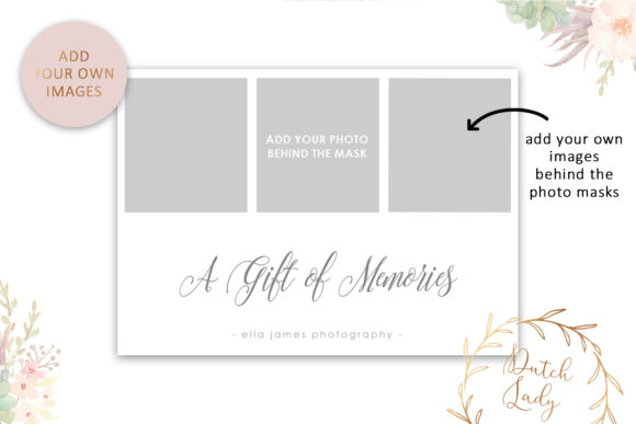 Download Free Photo Gift Card Psd Template 3 Grafik Von Daphnepopuliers for Cricut Explore, Silhouette and other cutting machines.