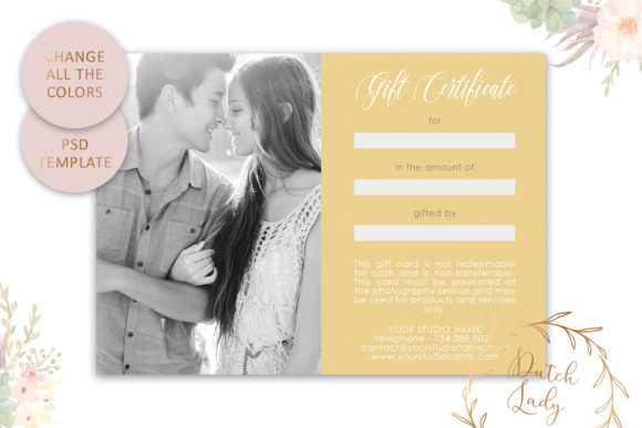 Print on Demand: Photo Gift Card .PSD Template - #3 Graphic Print Templates By daphnepopuliers - Image 4