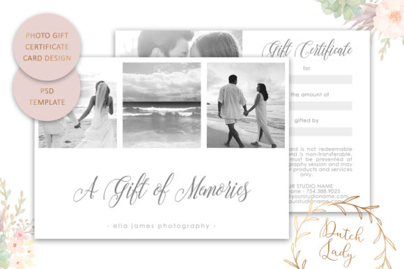Print on Demand: Photo Gift Card .PSD Template - #3 Graphic Print Templates By daphnepopuliers