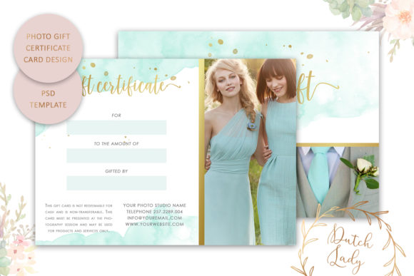Print on Demand: Photo Gift Card .PSD Template - #4 Graphic Print Templates By daphnepopuliers - Image 2