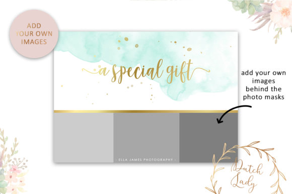 Photo Gift Card .PSD Template - #4