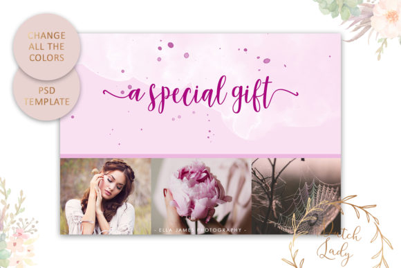 Print on Demand: Photo Gift Card .PSD Template - #4 Graphic Print Templates By daphnepopuliers - Image 4