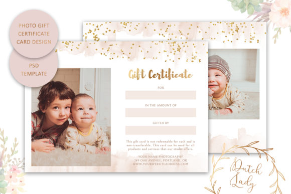 Print on Demand: Photo Gift Card .PSD Template - #49 Graphic Print Templates By daphnepopuliers - Image 2