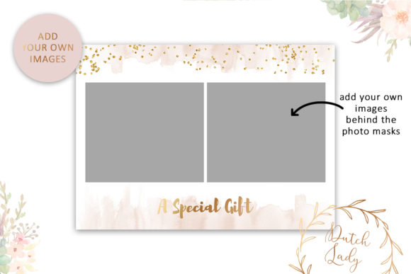 Print on Demand: Photo Gift Card .PSD Template - #49 Graphic Print Templates By daphnepopuliers - Image 3