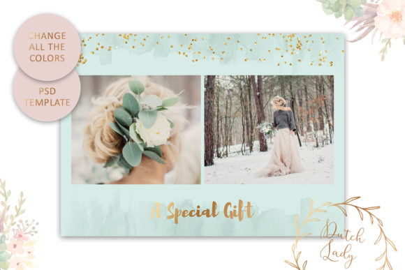 Print on Demand: Photo Gift Card .PSD Template - #49 Graphic Print Templates By daphnepopuliers - Image 4