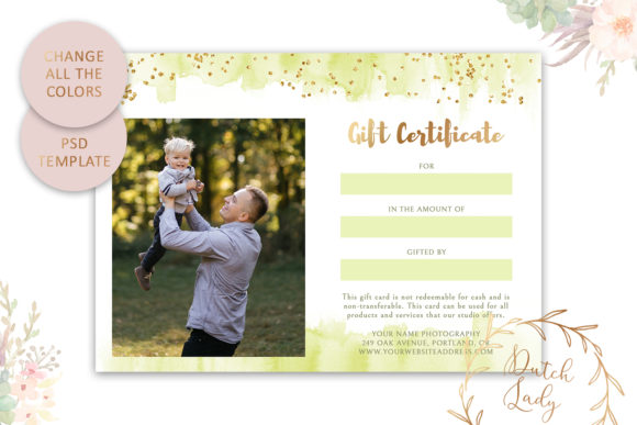 Print on Demand: Photo Gift Card .PSD Template - #49 Graphic Print Templates By daphnepopuliers - Image 5