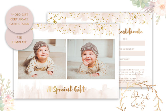 Print on Demand: Photo Gift Card .PSD Template - #49 Graphic Print Templates By daphnepopuliers