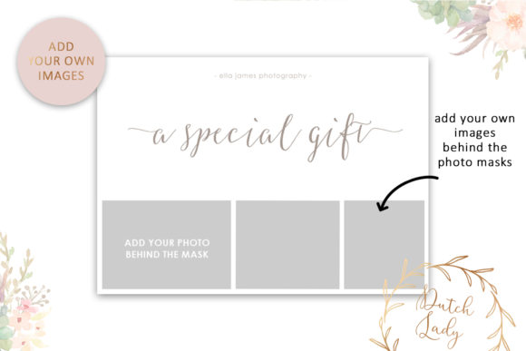 Download Free Photo Gift Card Psd Template 8 Grafik Von Daphnepopuliers for Cricut Explore, Silhouette and other cutting machines.