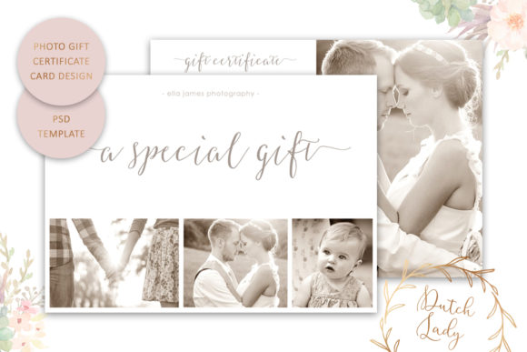 Print on Demand: Photo Gift Card .PSD Template - #8 Graphic Print Templates By daphnepopuliers
