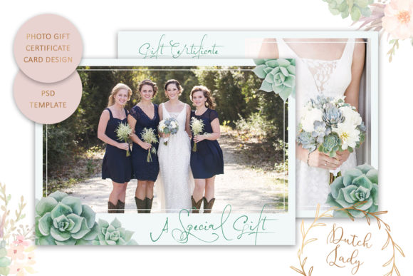 Print on Demand: Photo Gift Card Graphic Print Templates By daphnepopuliers