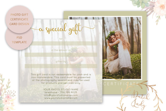 Print on Demand: Photo Gift Card Graphic Print Templates By daphnepopuliers - Image 2