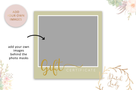 Print on Demand: Photo Gift Card Graphic Print Templates By daphnepopuliers - Image 3