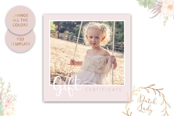 Print on Demand: Photo Gift Card Graphic Print Templates By daphnepopuliers - Image 4