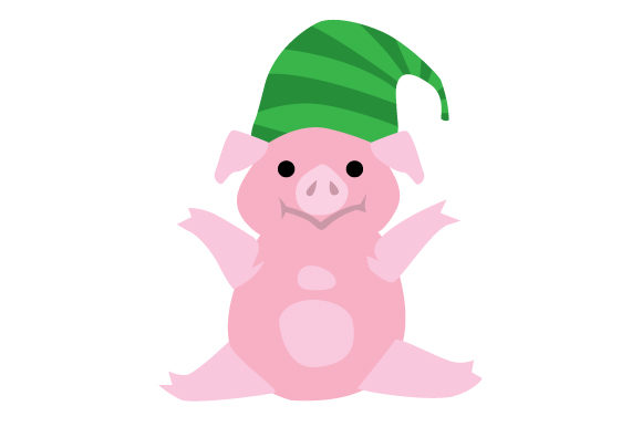 Download Free Pig With Elf Hat Svg Cut File By Creative Fabrica Crafts for Cricut Explore, Silhouette and other cutting machines.