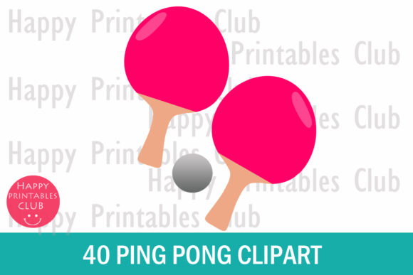 Print on Demand: Ping Pong Ball Clipart Graphics Graphic Illustrations By Happy Printables Club - Image 2