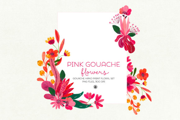 Pink Gouache Flowers Graphic By webvilla Image 2