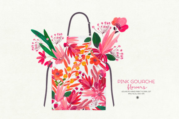 Pink Gouache Flowers Graphic By webvilla Image 3