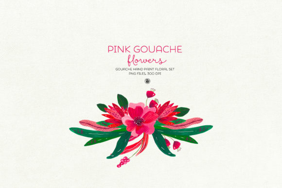 Pink Gouache Flowers Graphic By webvilla Image 4