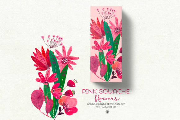 Pink Gouache Flowers Graphic By webvilla Image 5