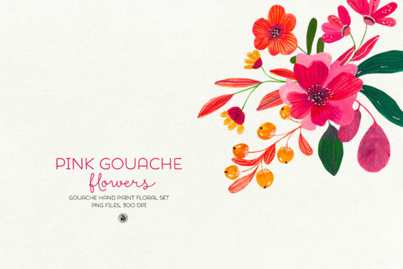 Pink Gouache Flowers Graphic By webvilla Image 6