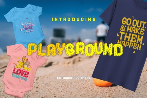 Print on Demand: Playground Display Schriftarten von creativework69