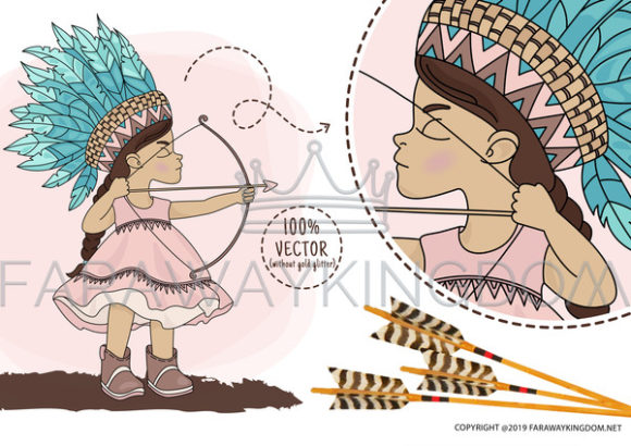 Pocahontas Thanksgiving Graphic Illustrations By FARAWAYKINGDOM - Image 6