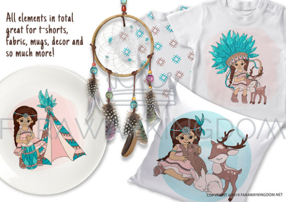 Print on Demand: Pocahontas Thanksgiving Graphic Illustrations By FARAWAYKINGDOM - Image 7