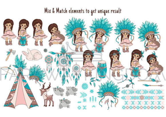 Pocahontas Thanksgiving Graphic Illustrations By FARAWAYKINGDOM - Image 9