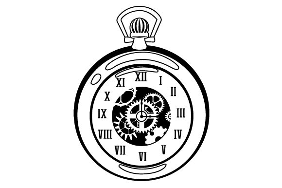 Download Free Pocket Watch With The Gears Visible Svg Cut File By Creative for Cricut Explore, Silhouette and other cutting machines.