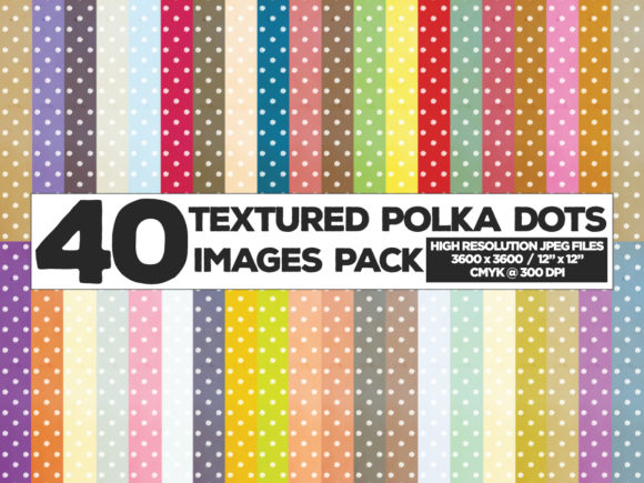 Print on Demand: Polka Dots Textures Background Images Grafik Hintegründe von yumiguelgfxartshop