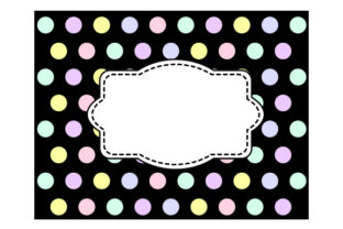 Polka Dot Borders/frames in Pastel Colors on Black Craft Design By Creative Fabrica Crafts
