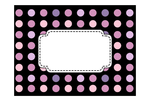 Download Free Polka Dot Borders Frames In Pastel Colors On Black Svg Cut File for Cricut Explore, Silhouette and other cutting machines.