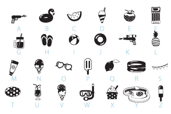 Print on Demand: Pool Party Dingbats Font By Illustration Ink - Image 3