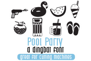 Print on Demand: Pool Party Dingbats Font By Illustration Ink