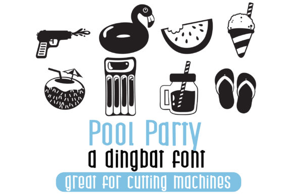Pool Party Dingbats Font By Illustration Ink