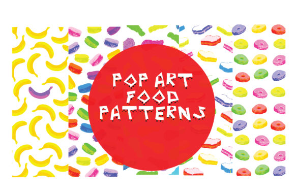 Download Free Pop Art Inspired Food Pattern Background Graphic By Graphicsbam for Cricut Explore, Silhouette and other cutting machines.