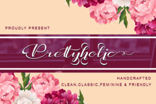 Print on Demand: Prettyholic Script & Handwritten Font By utopiabrand19