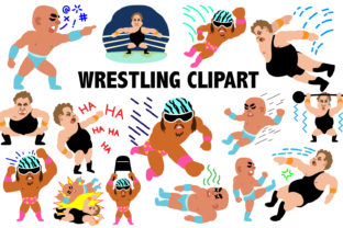 Professional Wrestling Clipart Graphic By Mine Eyes Design