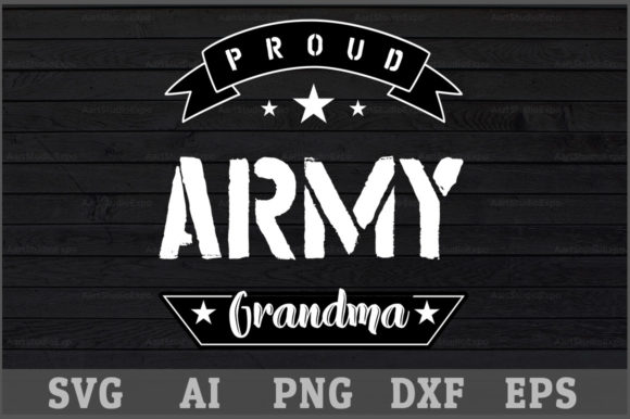 Download Free Proud Army Grandma Svg Design Graphic By Aartstudioexpo for Cricut Explore, Silhouette and other cutting machines.