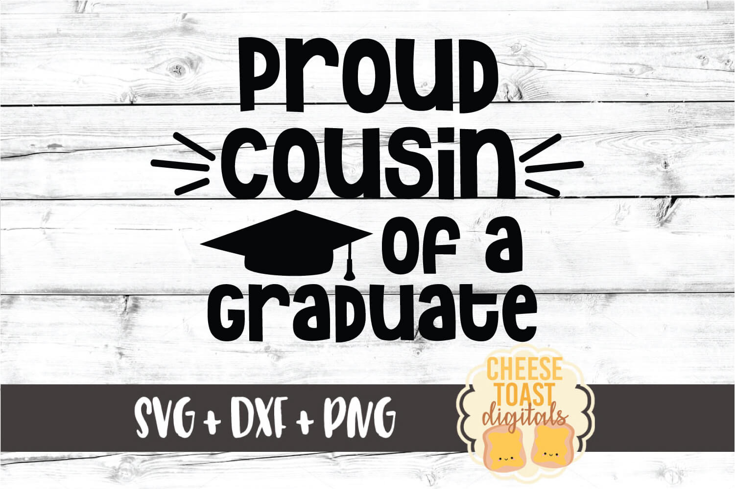 Download Free Proud Cousin Of A Graduate Graphic By Cheesetoastdigitals for Cricut Explore, Silhouette and other cutting machines.