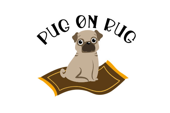Download Free Pug On Rug Svg Cut File By Creative Fabrica Crafts Creative for Cricut Explore, Silhouette and other cutting machines.