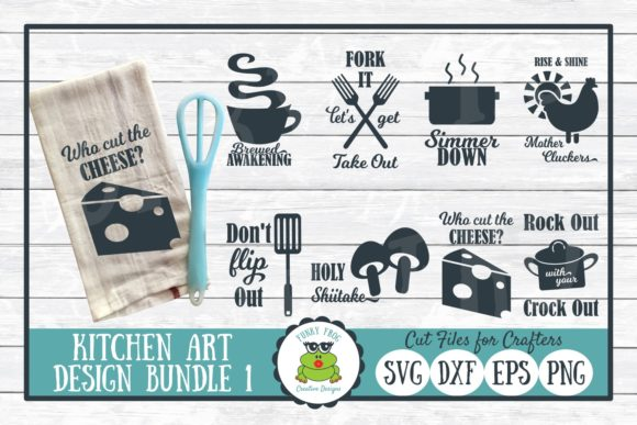 Pun Kitchen Art Bundle 1 Graphic Crafts By funkyfrogcreativedesigns - Image 1
