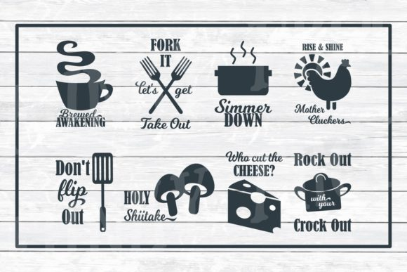 Pun Kitchen Art Mega Bundle, SVG Files