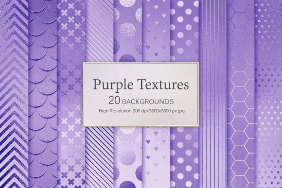 Print on Demand: Purple Textures Graphic Patterns By Creative Paper