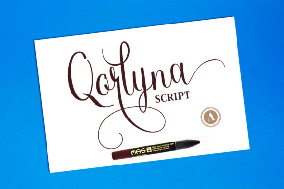 Print on Demand: Qorlyna Script & Handwritten Font By Aqeela Studio