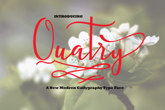 Print on Demand: Quatry Script & Handwritten Font By AsaharStudio